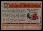 1957 Topps #281   Gail Harris Back Thumbnail
