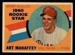 1960 Topps #138  Rookie Stars  -  Art Mahaffey Front Thumbnail