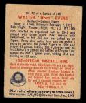 1949 Bowman #42  Hoot Evers  Back Thumbnail