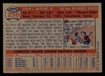 1957 Topps #250   Eddie Mathews Back Thumbnail