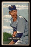 1951 Bowman #321  Earl Johnson  Front Thumbnail