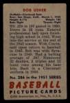 1951 Bowman #286  Bobby Usher  Back Thumbnail