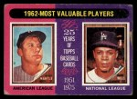 1975 Topps #200  1962 MVPs  -  Mickey Mantle / Maury Wills Front Thumbnail