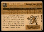 1960 Topps #424   Pete Whisenant Back Thumbnail