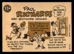 1960 Topps #224  Paul Richards  Back Thumbnail