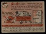 1958 Topps #22   Hal Naragon Back Thumbnail