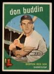 1959 Topps #32   Don Buddin Front Thumbnail