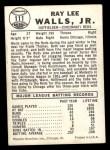 1960 Leaf #111  Lee Walls  Back Thumbnail