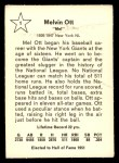 1961 Golden Press #1  Mel Ott     Back Thumbnail