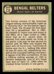 1967 Topps #216   -  Norm Cash / Al Kaline Bengal Belters Back Thumbnail