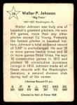 1961 Golden Press #29   Walter Johnson Back Thumbnail