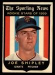 1959 Topps #141  Rookies  -  Joe Shipley Front Thumbnail