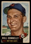 1953 Topps #126   Bill Connelly Front Thumbnail