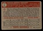 1952 Topps #4 RED Don Lenhardt  Back Thumbnail