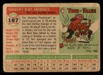 1955 Topps #187   Gil Hodges Back Thumbnail