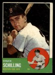 1963 Topps #52 COR Chuck Schilling  Front Thumbnail