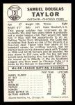 1960 Leaf #131  Sam Taylor  Back Thumbnail