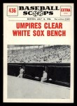 1961 Nu-Card Scoops #436    Umpire Clears Bench  Front Thumbnail