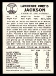 1960 Leaf #15  Larry Jackson  Back Thumbnail
