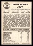 1960 Leaf #23 SML  Joey Jay Back Thumbnail