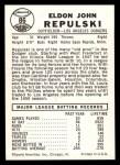 1960 Leaf #86  Rip Repulski  Back Thumbnail