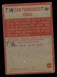 1965 Philadelphia #169   San Francisco 49ers  Back Thumbnail