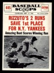 1961 Nu-Card Scoops #445   Phil Rizzuto   Front Thumbnail