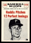 1961 Nu-Card Scoops #478    Harvey Haddix  Front Thumbnail