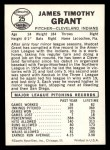1960 Leaf #25 COR Jim Grant   Back Thumbnail