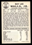 1960 Leaf #111  Lee Walls  Back Thumbnail