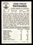 1960 Leaf #63   John Tsitouris Back Thumbnail