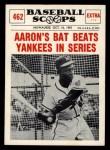 1961 Nu-Card Scoops #462    Hank Aaron  Front Thumbnail