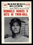 1961 Nu-Card Scoops #407    Pete Runnels  Front Thumbnail