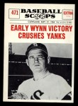 1961 Nu-Card Scoops #471    Early Wynn  Front Thumbnail