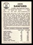1960 Leaf #54  Jack Sanford  Back Thumbnail