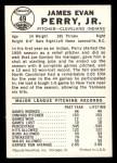 1960 Leaf #49  Jim Perry  Back Thumbnail