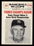 1961 Nu-Card Scoops #461    Casey Stengel  Front Thumbnail