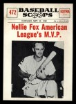 1961 Nu-Card Scoops #472    Nellie Fox  Front Thumbnail