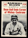 1961 Nu-Card Scoops #419   Mickey Cochrane   Front Thumbnail