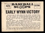 1961 Nu-Card Scoops #471   Early Wynn   Back Thumbnail