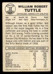 1960 Leaf #32  Bill Tuttle  Back Thumbnail