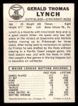 1960 Leaf #45  Jerry Lynch  Back Thumbnail