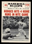 1961 Nu-Card Scoops #441    Gil Hodges  Front Thumbnail