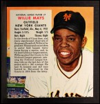 1955 Red Man #7 NLx Willie Mays  Front Thumbnail