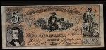 1962 Topps Civil War News Currency #5   $5 Serial #4763 Front Thumbnail