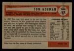 1954 Bowman #17   Tom Gorman Back Thumbnail