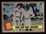 1962 Topps #137 A Babe and Mgr. Huggins  -  Babe Ruth / Miller Huggins Front Thumbnail