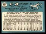 1965 Topps #417  Ed Brinkman  Back Thumbnail