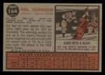 1962 Topps #164 GRN Hal Naragon  Back Thumbnail