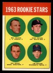 1963 Topps #522   Rookie Stars    -  Gary Peters / Jim Roland / Mel Nelson / Art Quirk Front Thumbnail
